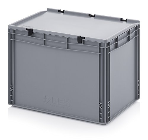 Eurobehälter-Eurobox 60 x 40 x 43,5 cm mit Scharnierdeckel inkl. gratis Zollstock