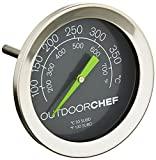 Outdoorchef Grillthermometer bis 400 °C   Deckelthermometer Klassisch mit extra großem Ziffernblatt