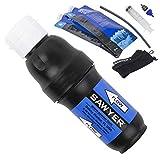 Sawyer PointONE Squeeze SP129 Wasserfilter mit 2 x 1L, faltbaren Trinkbeutel und Adapter SP110