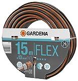 Gardena Comfort FLEX Schlauch 13 mm (1/2 Zoll), 15 m: Formstabiler, flexibler Gartenschlauch mit Power-Grip-Profil, aus hochwertigem Spiralgewebe, 25 bar Berstdruck, ohne Systemteile (18031-20)