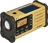 Sangean MMR-88 tragbares Kurbelradio (UKW/MW-Tuner, Notfall-Signalton, integrierter Li-Ion-Akku) gelb/schwarz