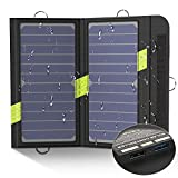 X-DRAGON Solar Ladegerät 40W 18V SunPower Faltbar Solar Panel Outdoor Ladegerät (5V USB + 18V DC) für Laptop, iPhone, iPad, Samsung, Huawei, Smartphones, 12V Auto Batterie, RV, Camping, Outdoor