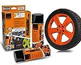 Foliatec 2043 Sprüh Folien Set, orange matt, 2er Set (2 x 400 ml)