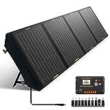 ECO-WORTHY 120W Solar Ladegerät Faltbares Solarpanel mit 20A LCD-Laderegler mit USB Tragbares Ladegerät in der Tasche für Camper