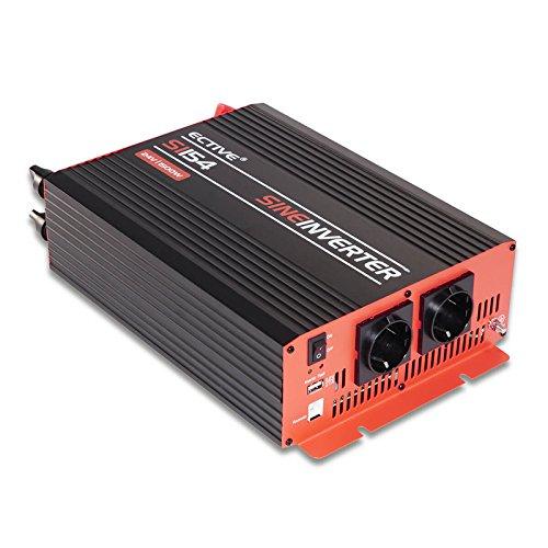 ECTIVE 1500W 24V auf 230V SI-Serie Reiner Sinus Wechselrichter in 7 Varianten: 300W - 3000W