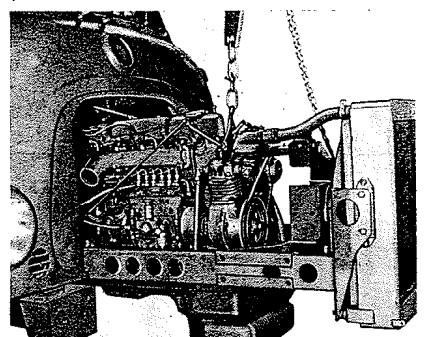 So wird das aussehen, wenn wir Hermans Motor ausbauen