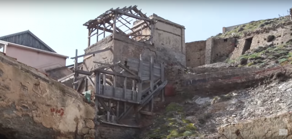 Lost Place Silbermine Argentiera, Sardinien