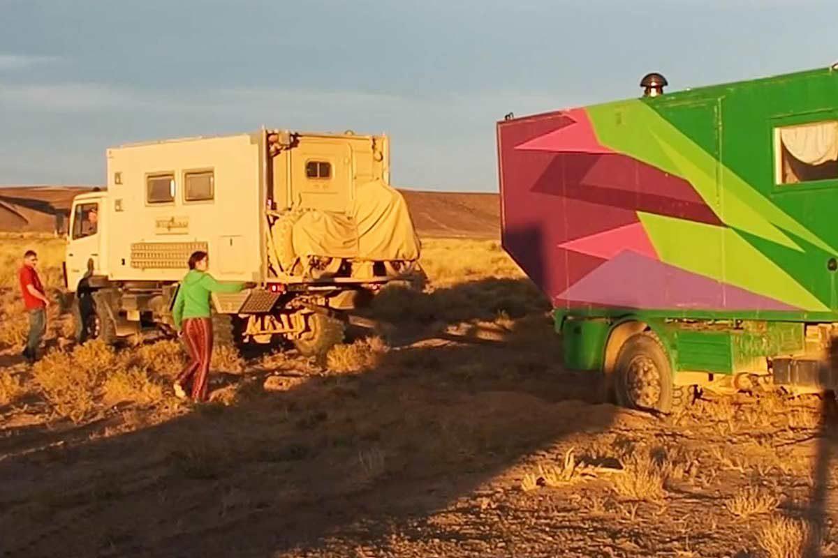 Bergung Allrad Wohnmobil bei Offroad Tour durch Marokko
