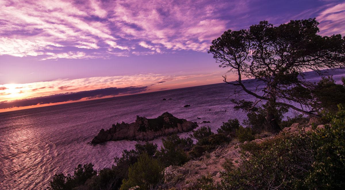 Blick beim Wandern an der Cote d'Azur