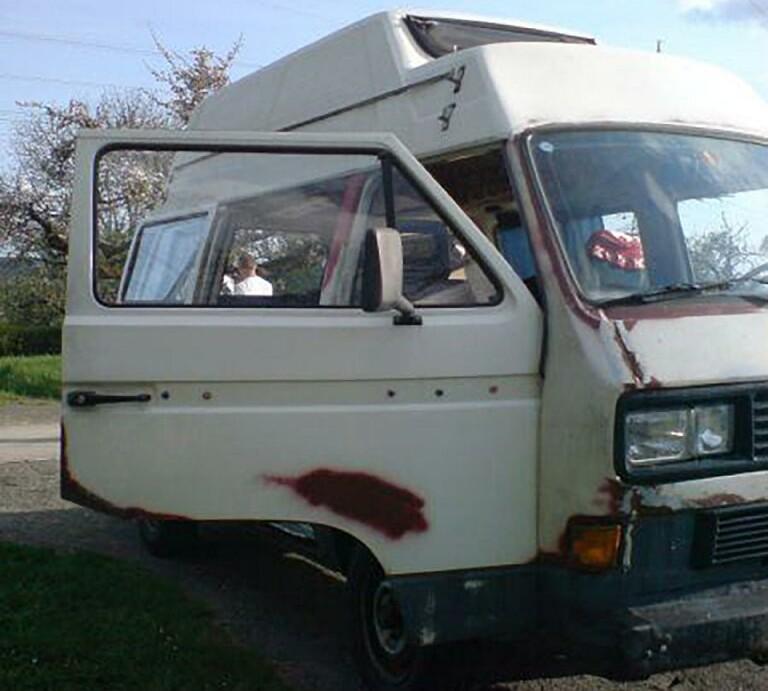 VW Bulli vor Restauration und Ausbau zum Campervan