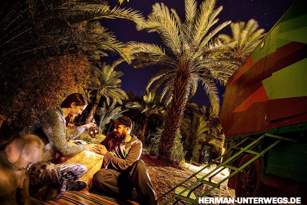 Camping Oasis Palmier, Zagora - Begrüßungstee