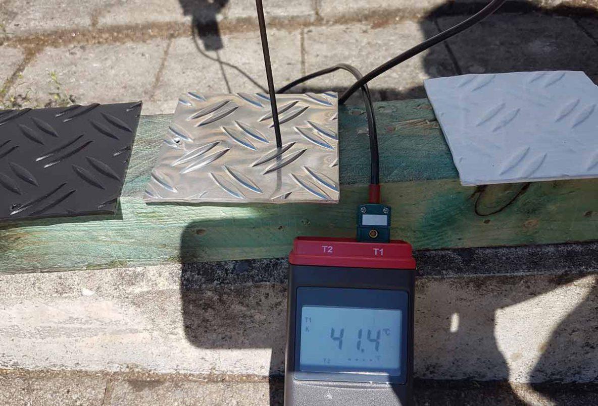 CoolDry Dachbeschichtung Testreihe