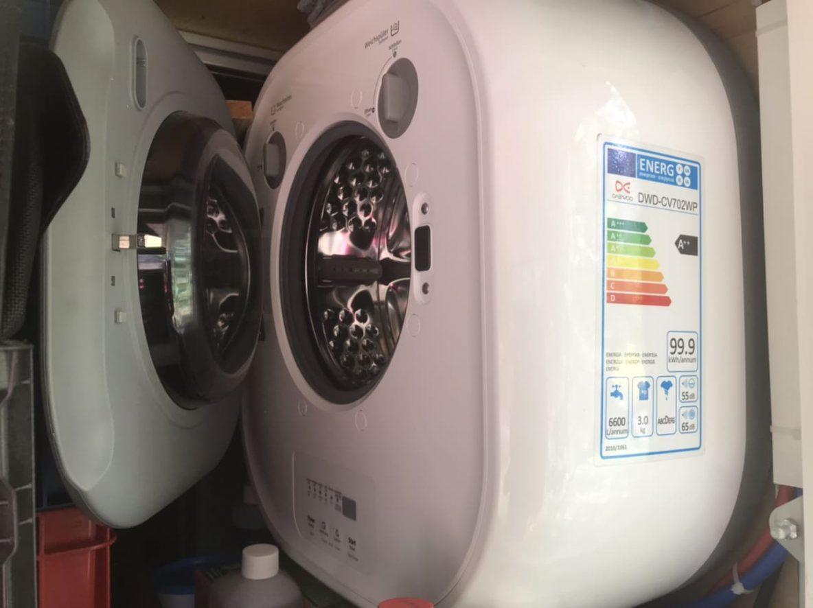 Daewoo Mini Waschmaschine im Wohnmobil - Erfahrungen + Infos