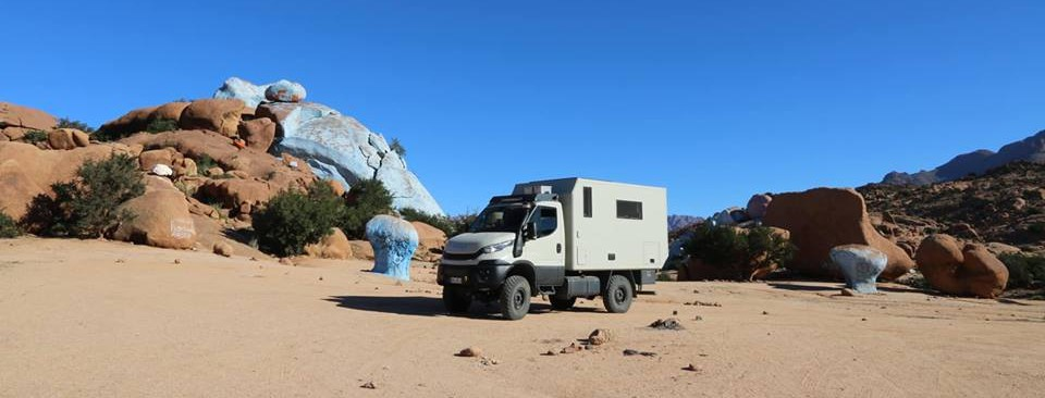 Iveco Daily 4x4 Camper in Marokko