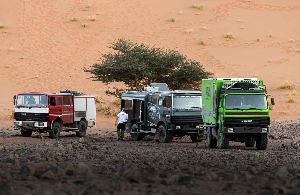 Allrad LKW Wagenburg in Marokko