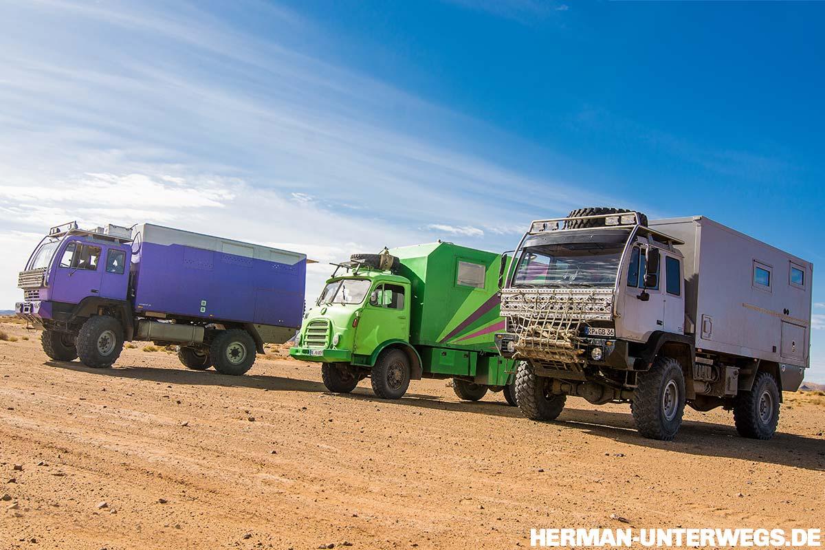 Steyr 12m18 und Steyr 680 zusammen in Marokko