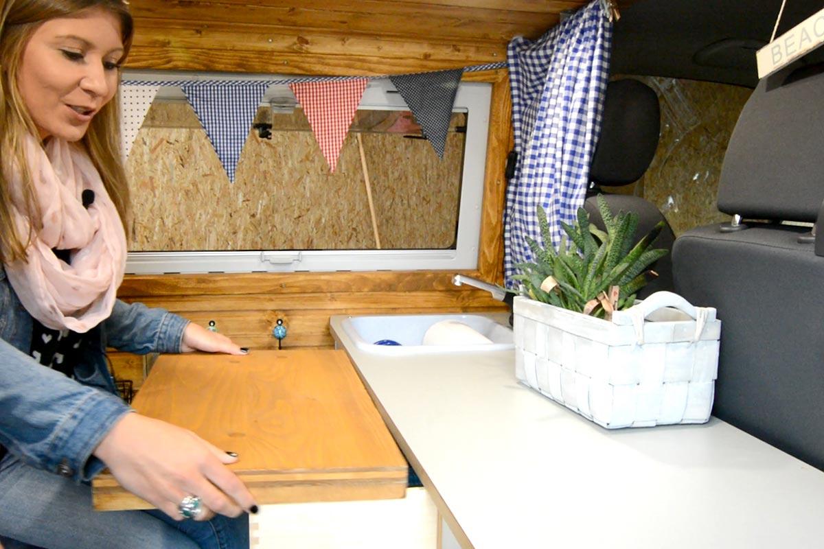 Campervan Selbstausbau - Küche