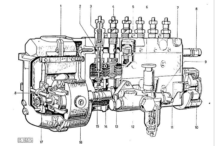 Steyr 680 Einspritzpumpe / Wartung