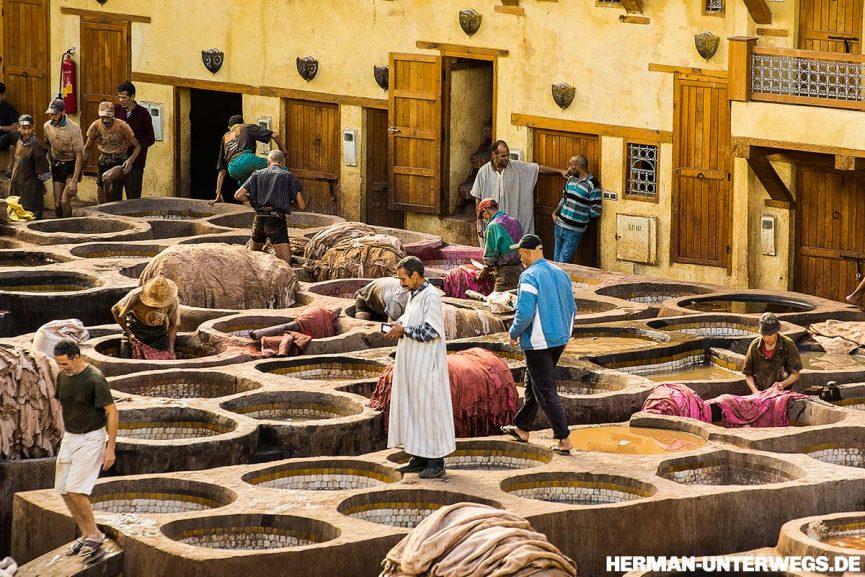 Medina von Fes - Die Färberei