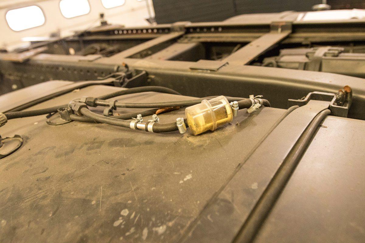 Diesel-Zusatzfilter direkt hinter der Kraftstoffansaugung