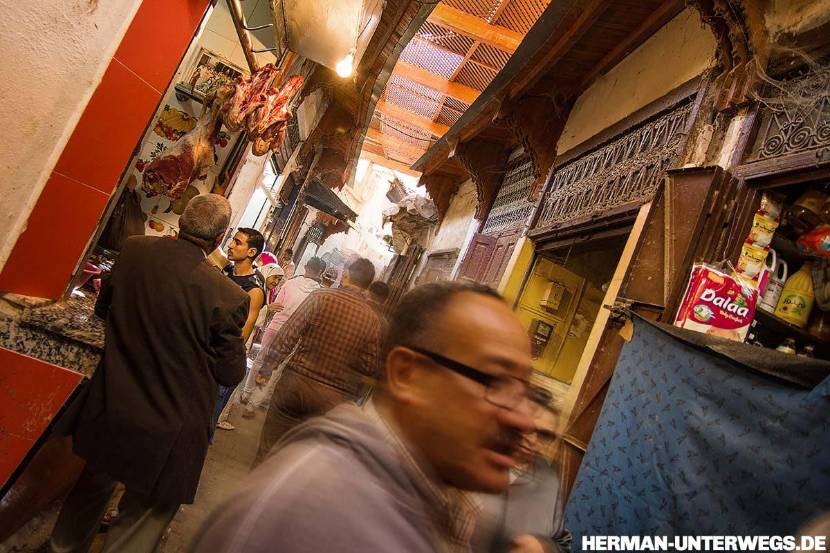 Medina von Fes - Fleischspezialitäten in Marokko