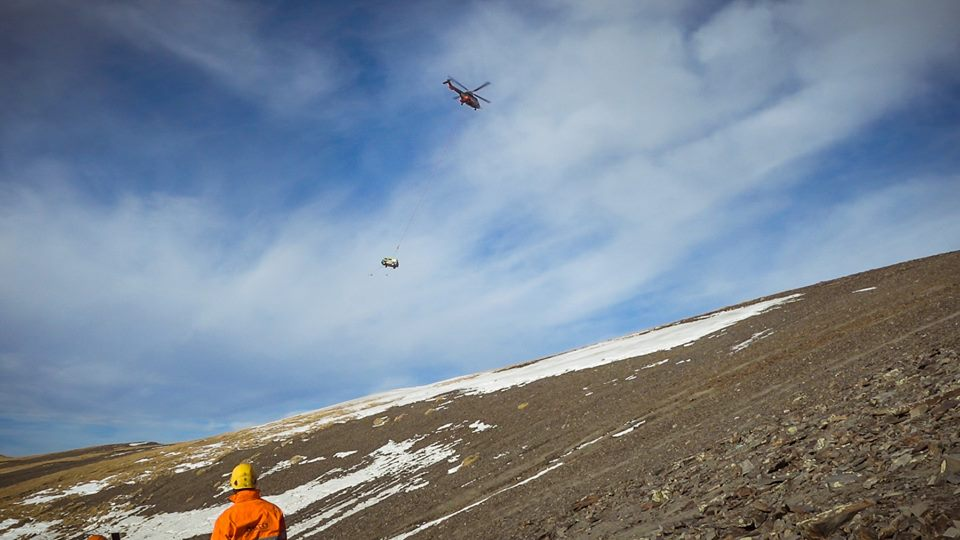 Hubschrauberbergung T3