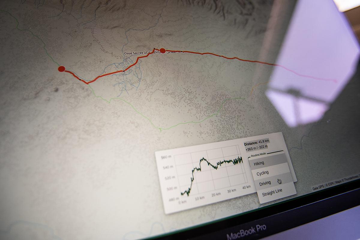 Gaia GPS Routenplanung