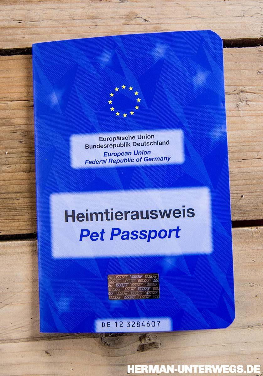 Heimtierausweis, für alle Reisen mit Hund