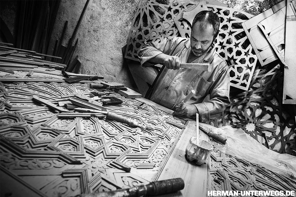 Medina von Fes - Holzhandwerk nach alter Tradition