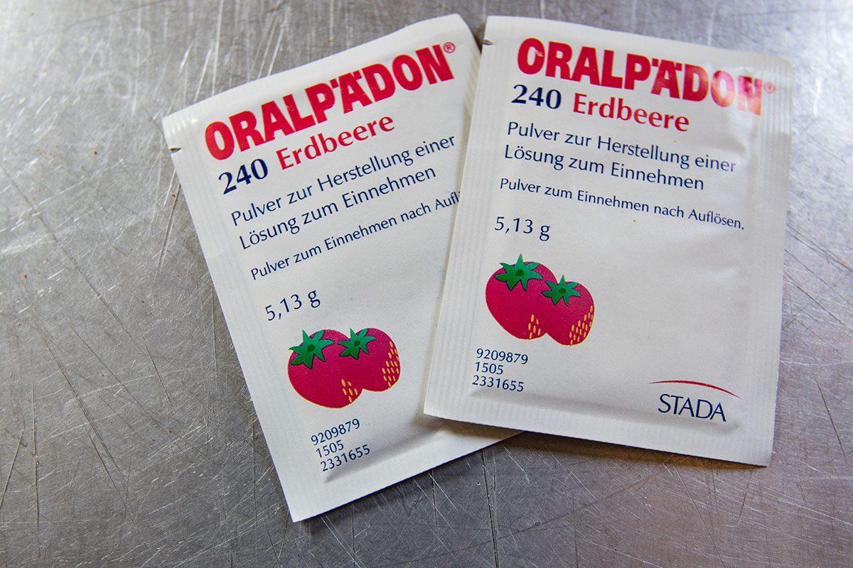 Reiseapotheke - Oralpädon bei Durchfallerkrankungen