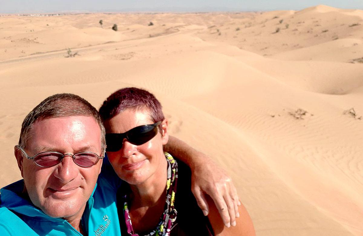 Jutta und Gerd in der Wüste