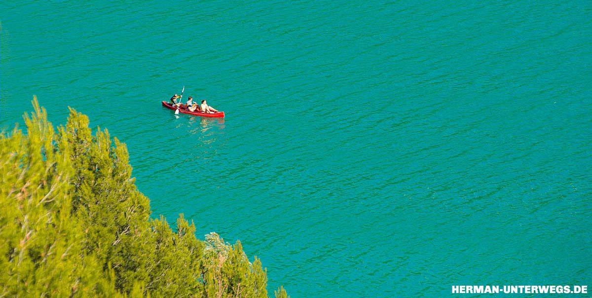 Kajak fahren auf dem Lac de Saint Croix