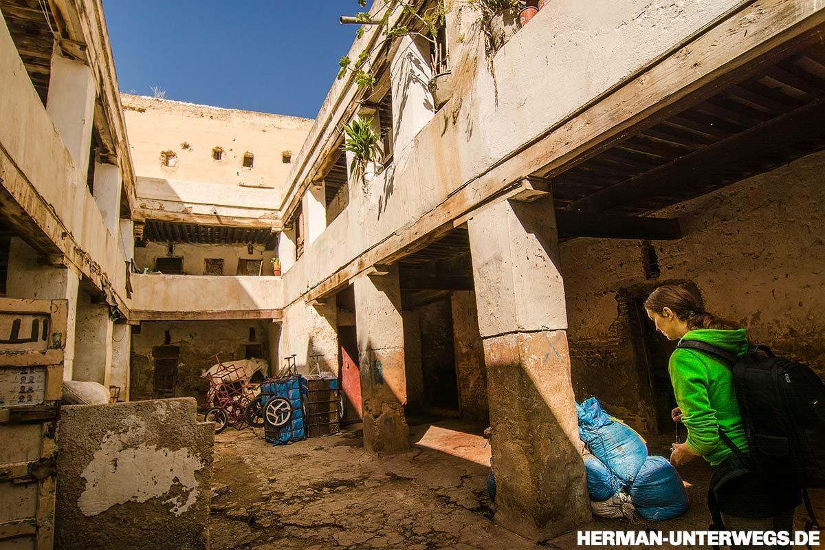 Medina von Fes - Die alte Karawanserei