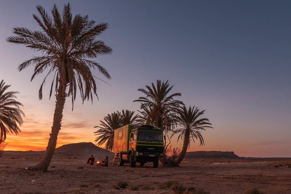 Allrad Wohnmobil in Palmenhain Marokko