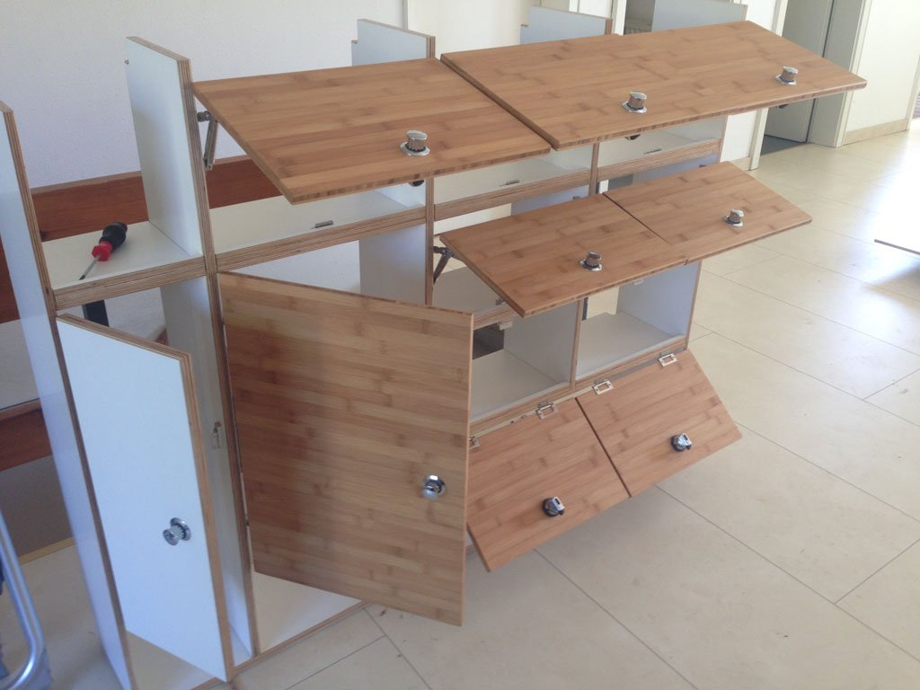 Möbelbau aus Multiplex und Bambus für Wohnmobil Willi