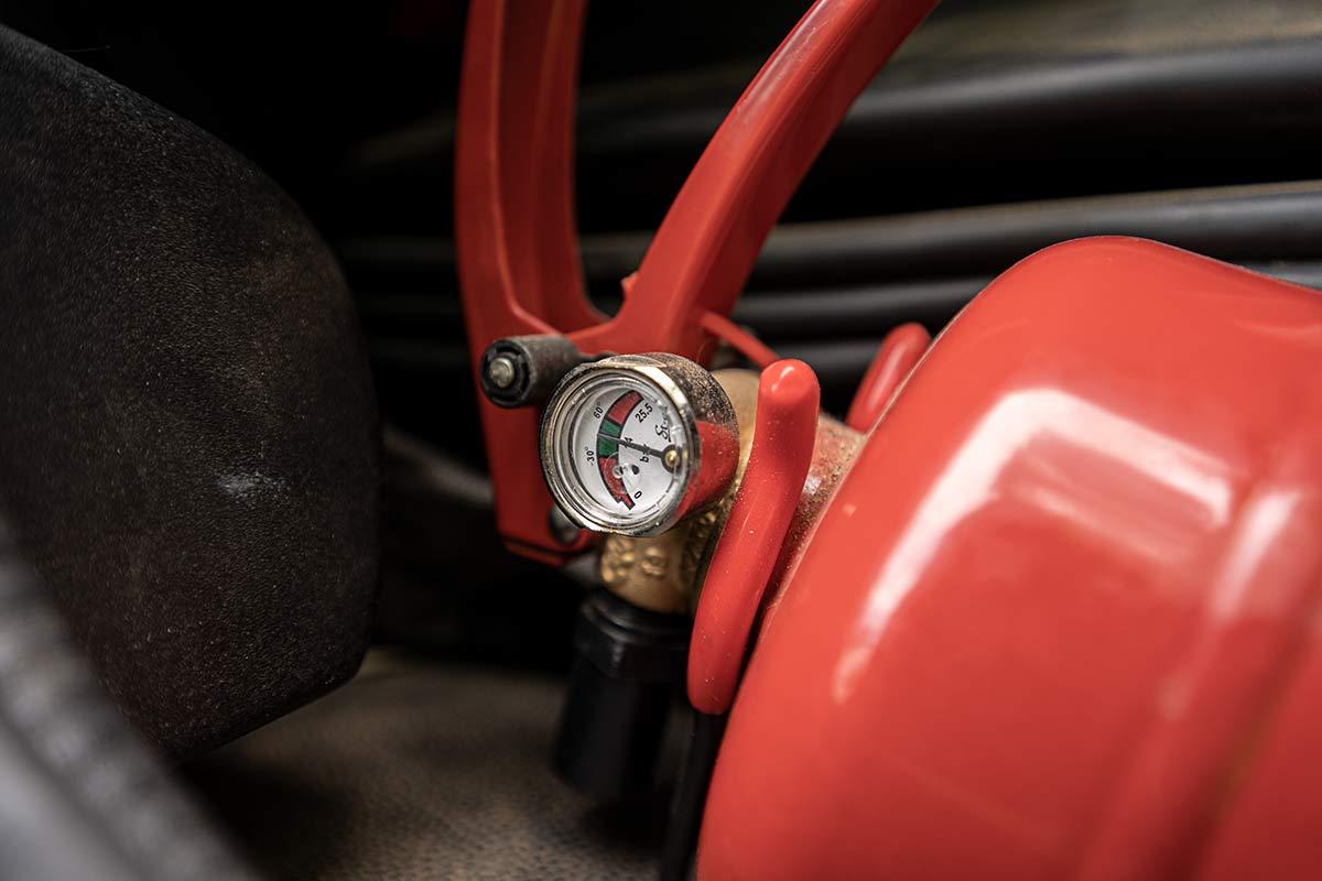 Dauerdruck Feuerlöscher im Wohnmobil mit Manometer