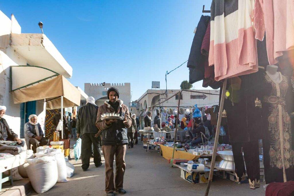 Marktgasse in Douz