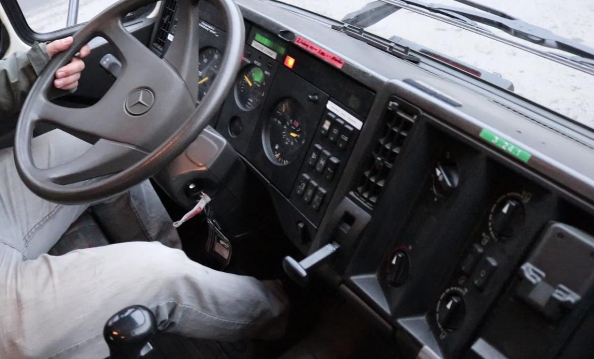MB Schwere Klasse - Blick ins Cockpit