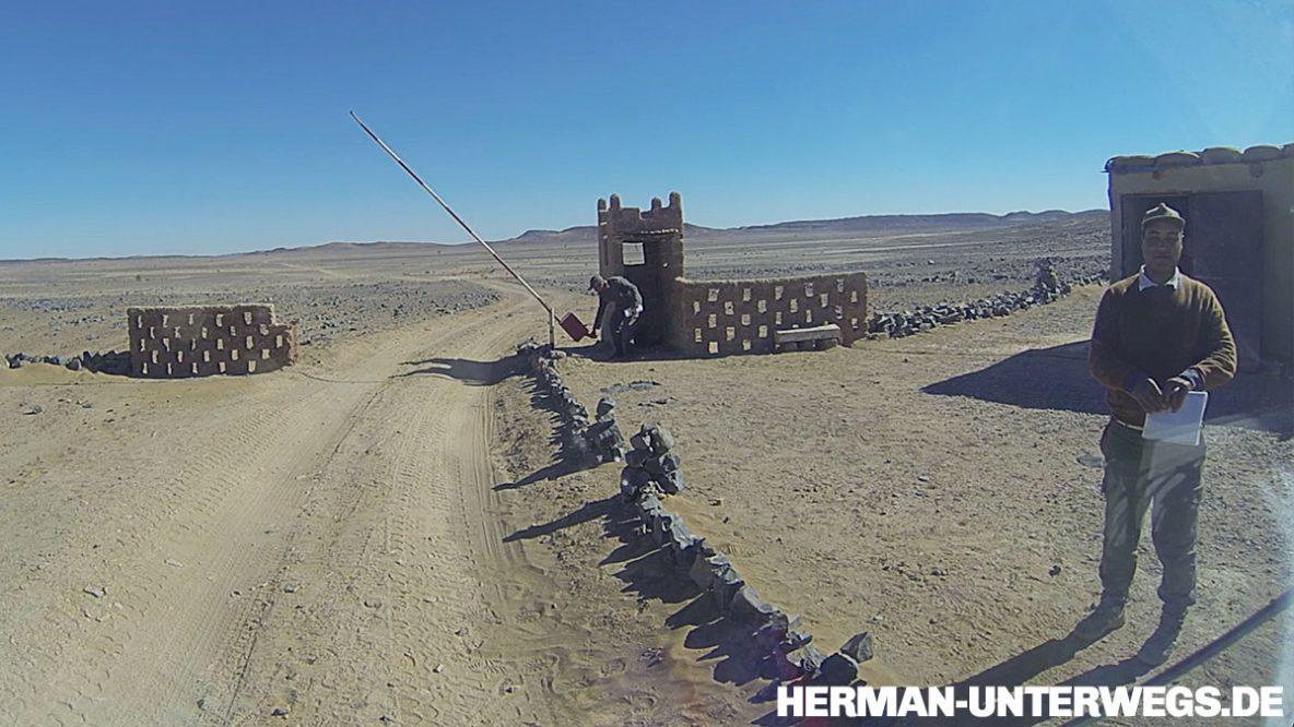 Ein marokkanischer Militärposten