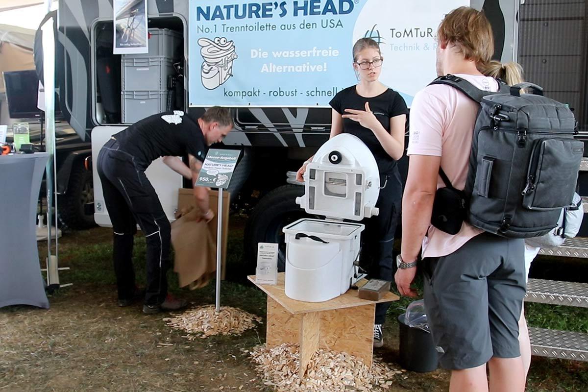 Nature's Head Messestand 2019 - Komposttoilette