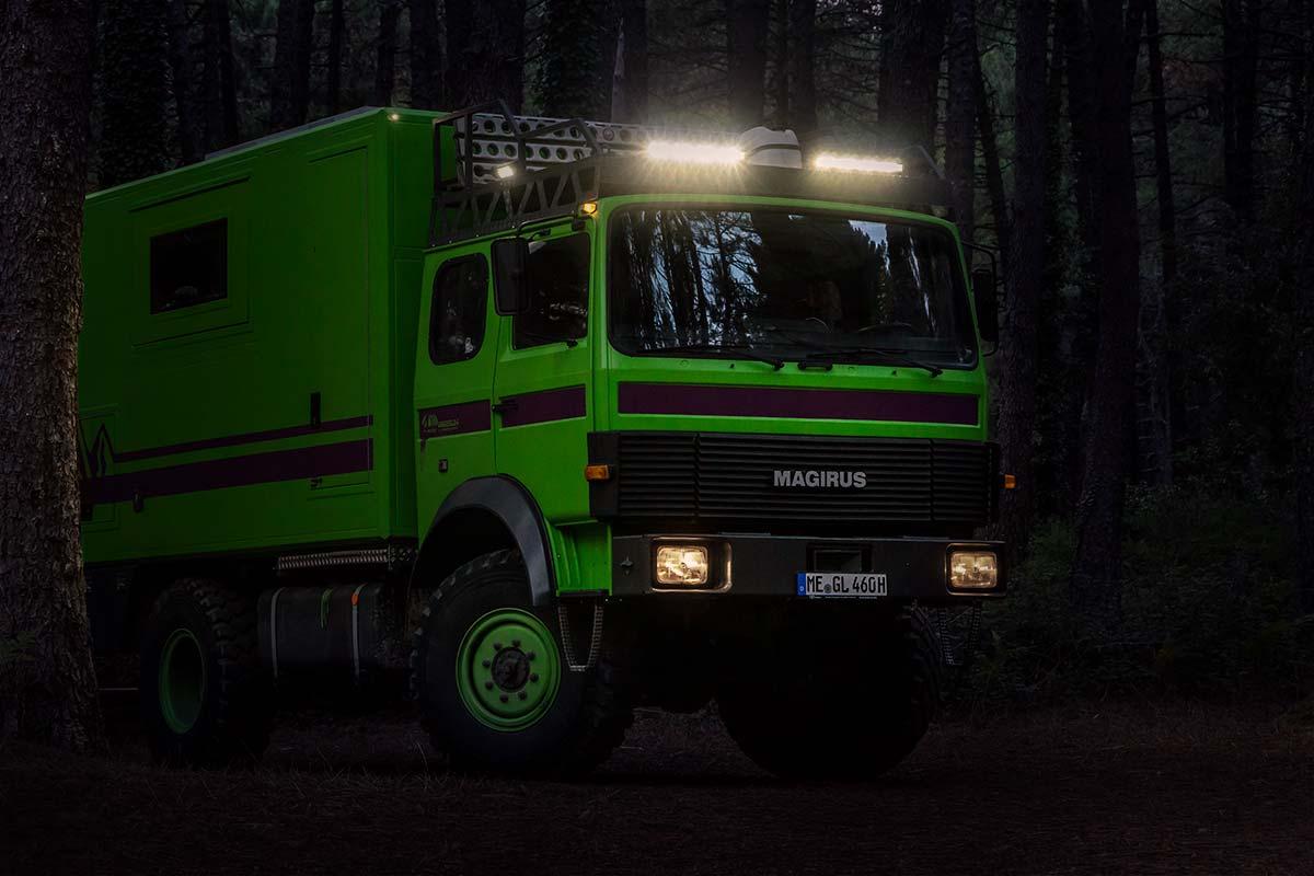 Zusatzscheinwerfer Offroad Lightbars von Osram auf unserem Expeditionsmobil