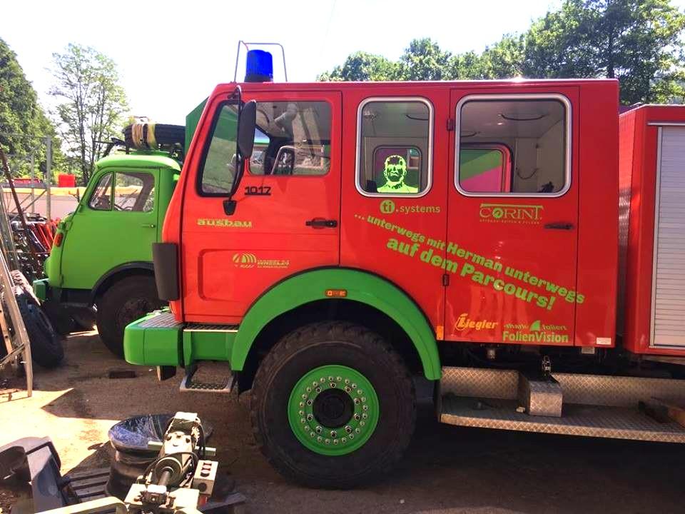 Herman unterwegs Parcours Feuerwehr