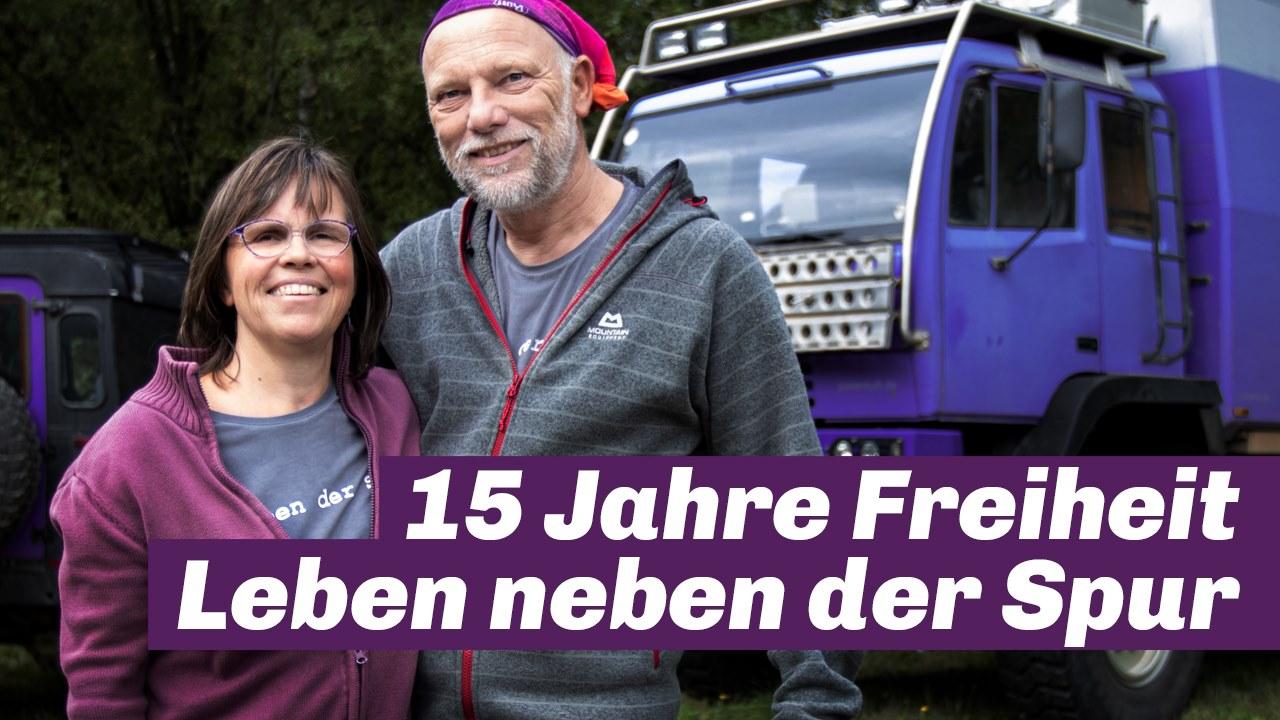 Overlanding Nonstop - 15 Jahre leben in Freiheit, Pistenkuh mit Sabine und Burkhard Koch