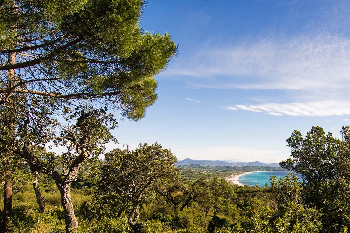 Blick auf die Bucht von Pampelonne