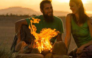 Lagerfeuer in Marokko