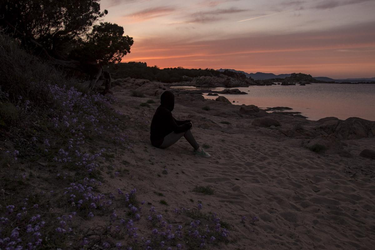 Sardinien Ostküste bei Abendstimmung