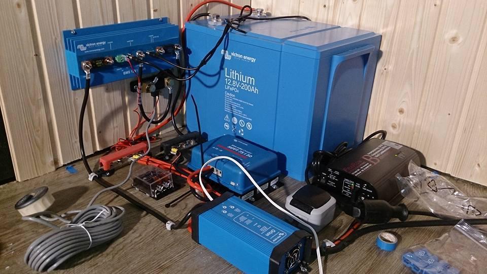Solaranlage mit LiFePO4-Batterie