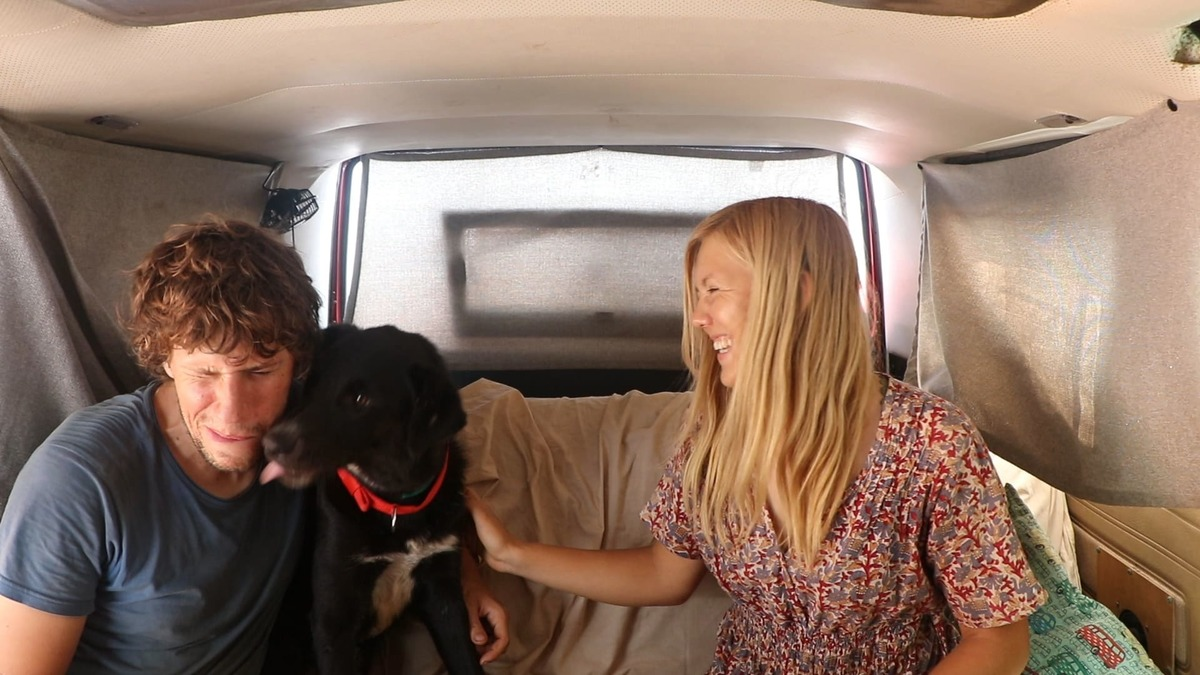 Steffen, Janin und Hund Luke