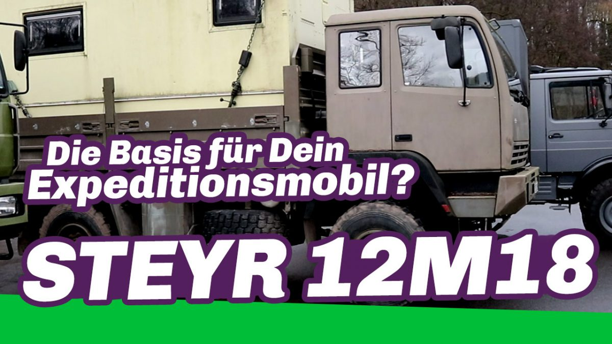 Steyr 12M18 Fahrgestell als Expeditionsmobil