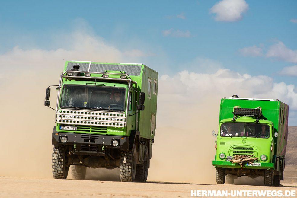 Steyr 12M18 und 680 offroad im Oued Rheris
